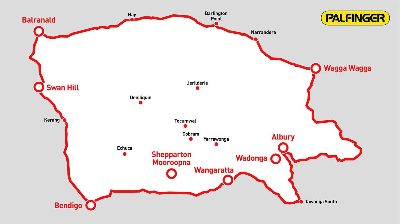 Dunstans Palfinger agent operational map